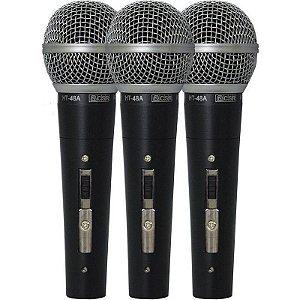 Microfones Com Fio De Mão Dinâmico CSR 3 Unidades 48-3