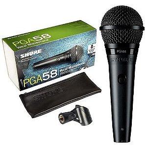Microfone Cardioide Dinâmico PGA58-LC - SHURE