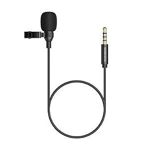 Microfone Lapela para Smartphone Preto SMART MIC - TELEFUNKEN