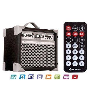 Caixa Acústica Multiuso LL AUDIO Color UP 5 Polegadas PRETA