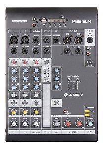 Mesa De Som 4 Canais LL Audio Millenium MX402R Bivolt