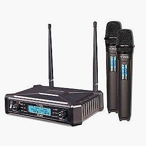 Microfone Sem Fio Duplo Tag TMJ-800 UHF Multifrequencia
