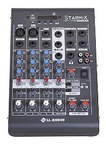 Mesa De Som 4 Canais Starmix XMS 402R LL Audio USB Bluetooth