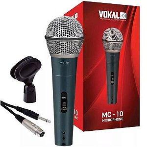 Microfone De Mão Dinâmico MC10 - VOKAL