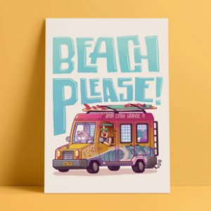 BEACH PLEASE - Pôster A4