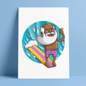 WISE SURFER - Pôster A4