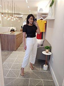 Calça pantacourt branca