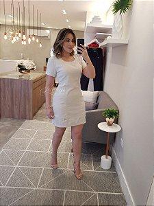 Vestido curto linho