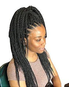 Twist Sara - Crochet - ( cor 2  castanho escuro )