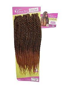 Twist Sara - Crochet - ( cor T1B/27 Preto mesclado com loiro mel )