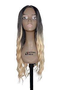 Peruca Rachel ( cor R2/628 raíz preta com pontas loiras  ) 280g -Morden Girl + Touca Wig Cap