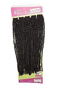 Sunny curl - Crochet - ( cor 2 castanho escuro  )