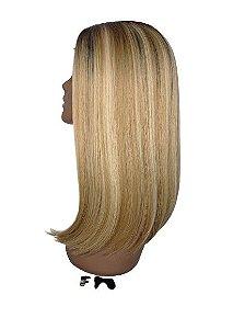 Peruca DOMINICK Front Lace - SLEEK TRUE ME (Cor NTPN4//16A/613A ) + Grátis um suporte de peruca