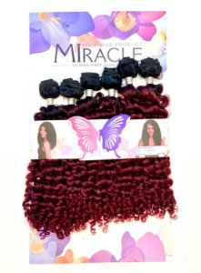 Cabelo Miracle Monalisa 200g (COR TT1B/99J+118 - Preto na raiz + vermelho cereja)