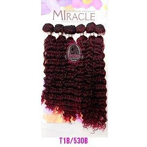 CABELO MIRACLE IRENE 220g - (COR T1B/530 - Preto com Marsala )