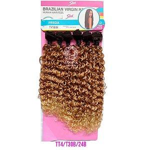 Cabelo Freda 260g - Brazilian Virgin Hair (Cor TT4/T30B/24B - Castanho + cobreado + loiro médio)