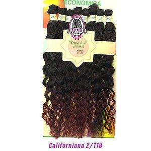 Cabelo Rainbow orgânico - Mèrica Hair 250G ( cor 2/118californiana - castanho escuro + acajú)