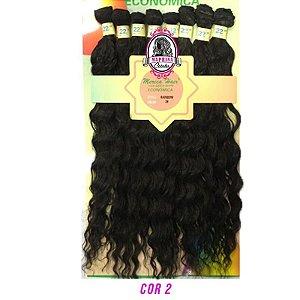 Cabelo Rainbow orgânico - Mèrica Hair 250G ( cor 2 castanho escuro)