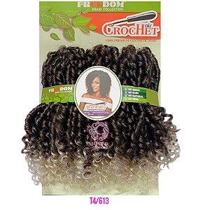 Cabelo Cro Vitality 240g - Freedom Crochet  ( COR T4/613 - Castanho Médio + Loiro Claro Nas Pontas)