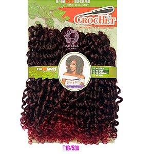 Cabelo Cro Vitality 240g - Freedom Crochet ( COR T1B/530 - Preto com Marsala)