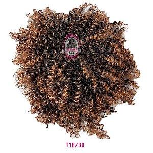 Afro Puff Orgânico 120g Fashion Line ( cor T1B/30 PRETO COM COBRE  )