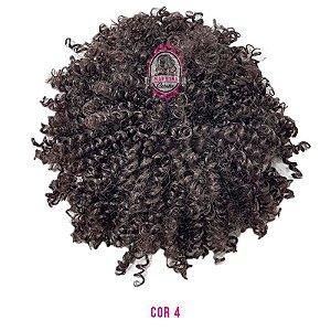Afro Puff Orgânico 120g Fashion Line ( cor 4 castanho )