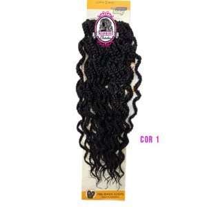 "CURLY BOX BRAID 18"" ( COR 1 PRETO )"