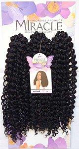 Cabelo Miracle Katrine 200g - Crochet Brad (Cor 1B - Preto)