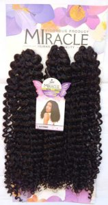 Cabelo Miracle Katrine 220g - Crochet Brad (Cor 2 - Castanho escuro)
