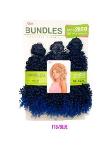 Cabelo Bundle Goivo Orgânico - Sleek ( Cor T1B/BLUE - Preto + azul)