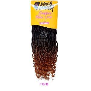 Goddess Faux Locs 300g - BLACK BEAUTY (COR T1B/30 - PRETO/LOIRO ESCURO)