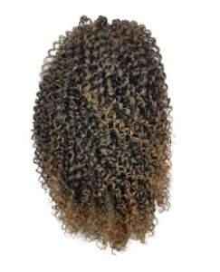 Afro Puff G - Orgânico Cherey  (cor T1B/27 PRETO COM LOIRO MEL)