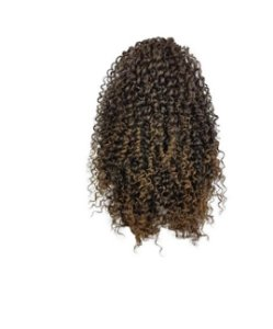 Afro Puff G - Orgânico Cherey  (cor T4/27 - CASTANHO + LOIRO MEL)