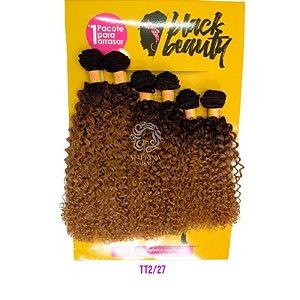 Cabelo Cachos Perfeitos OA  - Black Beauty ( Cor TT2/27 - Castanho escuro + loiro mel)