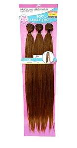 Cabelo Alba Brazilian Virgin Hair ( HL433/613+1427- Castanho claro mesclado com loiro e mel)