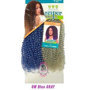 Cabelo Top Super Bohemian - Sleek ( Cor OM BLUE GRAY - Azul + Cinza)