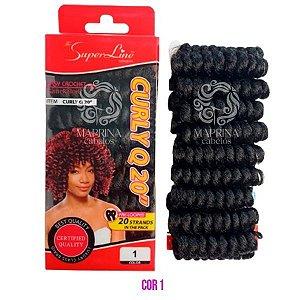 Cabelo Curly Q20 - Super Line ( cor 1 - Preto)