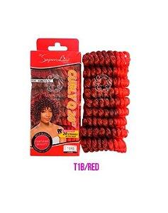 Cabelo Curly Q20 - Super Line ( cor T1B/Red - Preto +  Vermelhol)