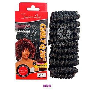 Cabelo Curly Q20 - Super Line ( cor 280 - Preto + Grisalho)