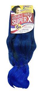 Jumbão Double Triple 400g - Zhang Hair ( Cor T1B/Blue - Preto + Azul)