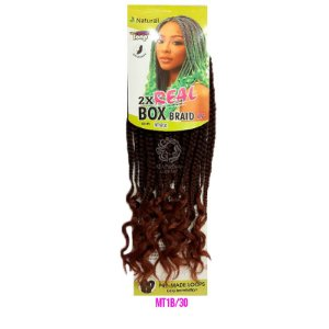 "2X Real Box Braid 14"" (cor MT1B/30 - Loiro mel + cobreado)"