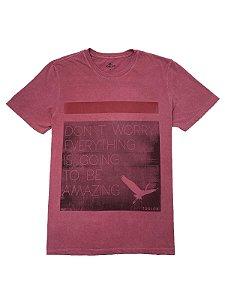 Camiseta Estampa Estonada Don't Worry