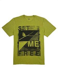 Camiseta Estampa Set Me Free