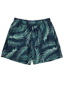 Short Estampa Folhas de Palmeira