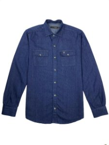 Camisa Jeans Bolsos ML