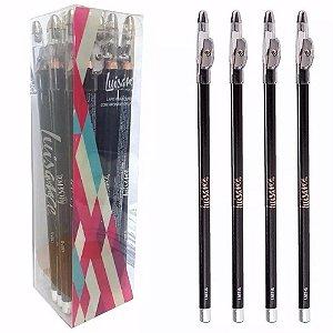 Lápis para Olhos com Apontador 24 Unidades Luisance L887-B Preto