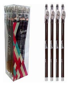 Lápis para Olhos com Apontador 24 Unidades Luisance L887-M Marrom