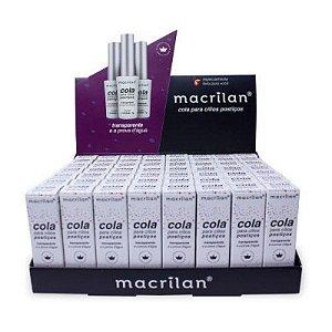 Cola para Cílios Postiços Transparente Macrilan CA-001 56 Unidades