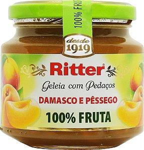 Geleia 100%fruta de Pêssego e Damasco 290g