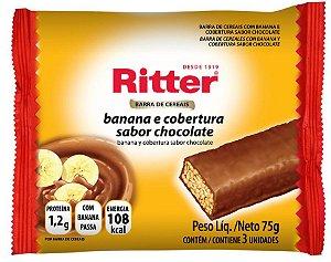 Barra de Cereal Banana e Chocolate - 3un